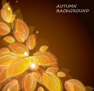 Autumn Yellow Leaves Background Vector 01