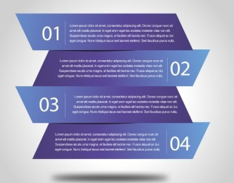 Blue Abstract Number Labels Vector