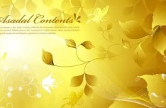 Elegant Golden Leaves Background Vector