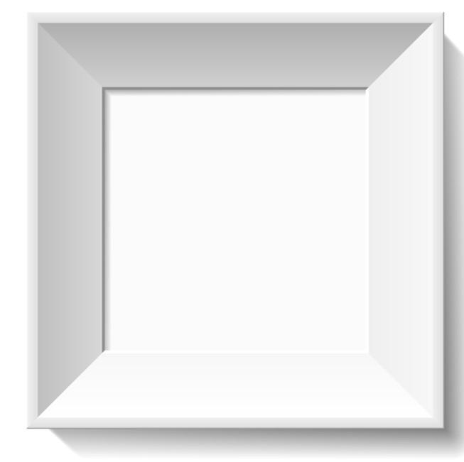 Simple White 3D Feel Photo Frame Vector
