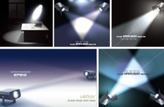 Vector Spotlight Projector Designs