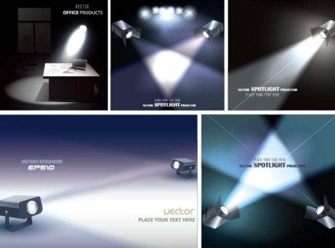 Vector Spotlight Projector Designs