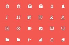 30+ Mini Web Icons PSD