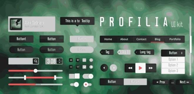 Profila UI kit For Web & Mobile PSD