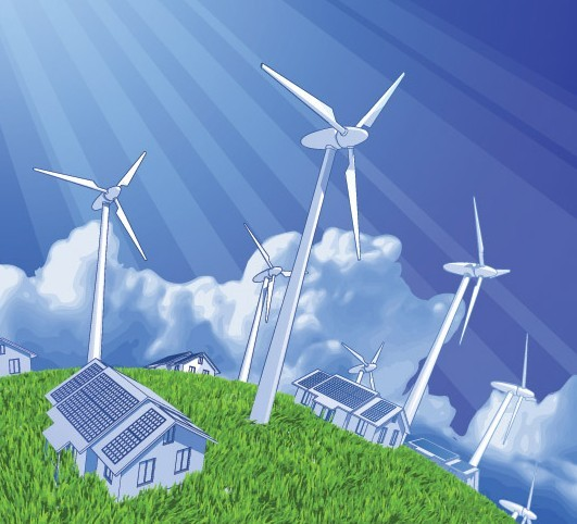 Vector Environmental Protection & Green Energy Design Elements 04
