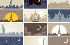 Vector Illustrations Of Famous Landmarks In The World