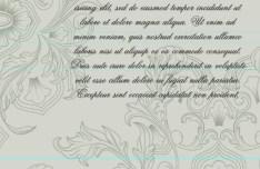 Vintage Letter Paper With Floral Ornamental Background