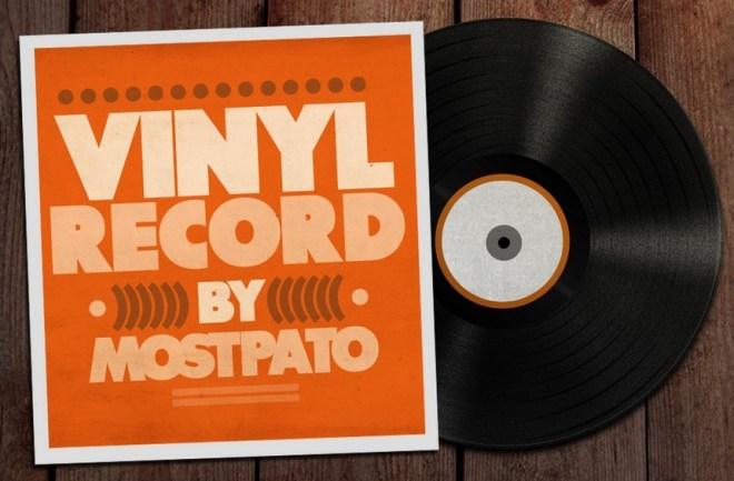 Vinyl Record PSD