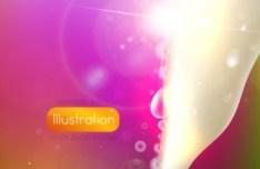 Orange Hot Summer Sunshine Background Vector 02
