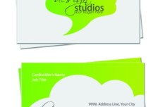 Simple and Clean Business Card Design Vector 01