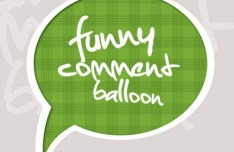 Cute Green Speech Bubble with White Border Vector
