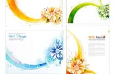 Set Of Vector Asadal Fresh Floral Background