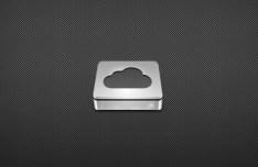 3D Cloud Disk Icon PSD