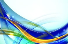 Abstract Technology Curved Lines Background Vector