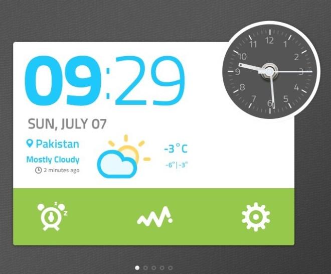 Time and Clock Widget PSD