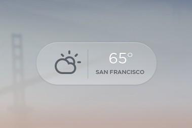 Transparent Weather Button PSD