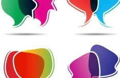 Abstract Colored Chat Bubbles Vector