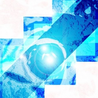 Blue Abstract Shapes Background Vector 04