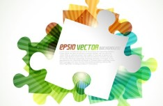 Bright Colorful Puzzles Background Vector 02