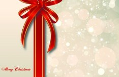 Clean Halos Background with Red Ribbon Vector