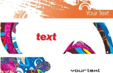 Set Of Vector Fashion Doodle Banners