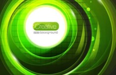 Creative Bright Green Swirls Background Vector