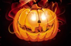 Glowing Pumpkin For Halloween