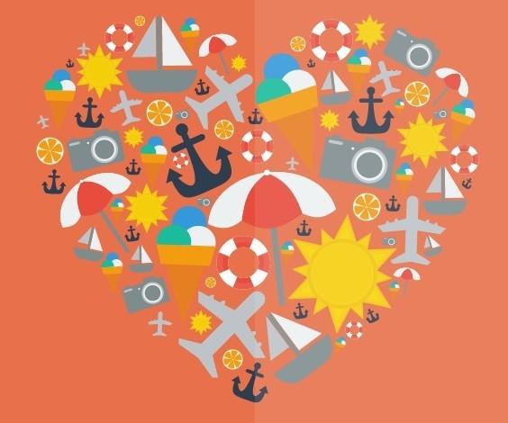 I Love Summer Vector Illustration