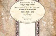 Vintage Old Floral Card Cover Template Vector 02