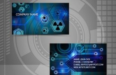 Bright HI-Tech Business Card Templates Vector 03
