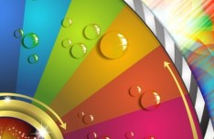 Colorful Abstract Color Wheel Background Vector 01