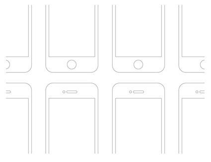 Retina Ready iPhone Wireframes PSD
