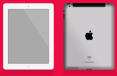 iPad Front and Back Mockup PSD