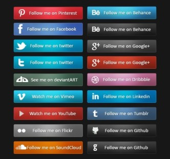 20+ Sleek Social Media Follow Buttons