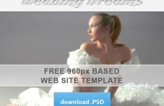 960px Based Wedding Dreams Website Template PSD