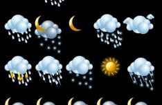 Set Of Vector Weather Icons 01