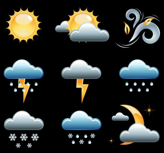 Set Of Vector Weather Icons 02