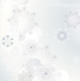 Winter Snowflake Background Vector 04