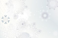 Winter Snowflake Background Vector 04
