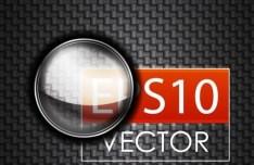 Dark Vector Glass Frame 01