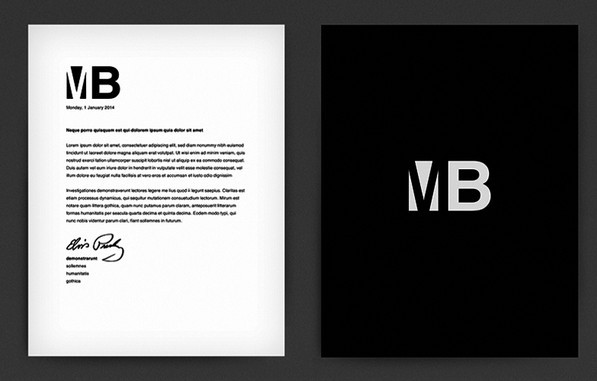 Customizable Letterhead PSD Mockup