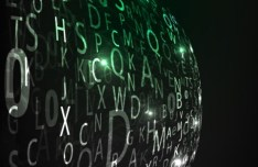 HI-Tech Digital Letters Background Vector 01