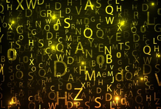 HI-Tech Digital Letters Background Vector 03
