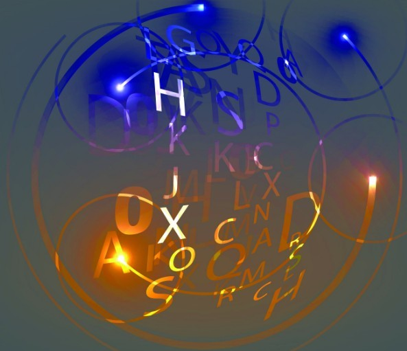 HI-Tech Digital Letters Background Vector 04