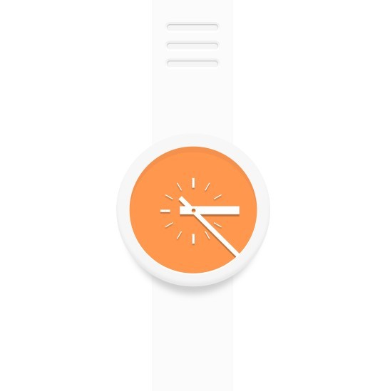 Minimal Orange and White Watch PSD Mockup