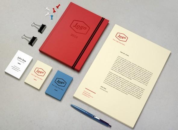 Clean Corporate Identity & Branding PSD Mockup