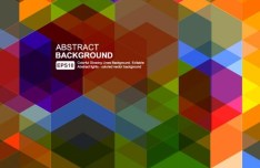 Colored Abstract Geometry Background Vector 02