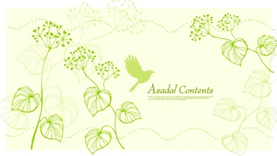 Fresh Green Spring Bird and Floral Vector 01