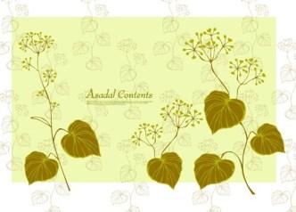 Fresh Green Spring Bird and Floral Vector 03