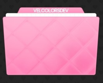 Pink Fold Icon PSD